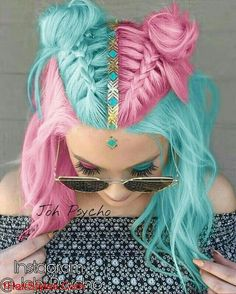 Pink blue hair Miladies net is part of Pink Hair Cuttie Miladies Net Hair Pink Hair Hair - Pink blue hair Miladies net Hair Dye Colors, Cool Hair Color, Crazy Hair Colour, Aqua Hair Color, Kids Hair Color, Pelo Multicolor, Cotton Candy Hair, Unicorn Hair, Pretty Hairstyles