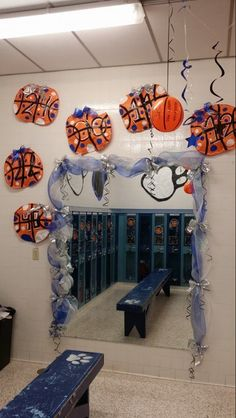 football locker decoration | football locker decoration