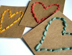 Sewing Crafts For Children 10 Waldorf Inspired Kids Valentine Crafts! Kids Crafts, Valentine Crafts For Kids, Valentines Diy, Holiday Crafts, Valentine Hearts, Decoration St Valentin, Valentines Bricolage, Waldorf Crafts, Sewing Cards