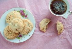Browned Butter White Chocolate Macadamia Cookies- Happy Valentine's Day!!