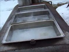 A big part of making your own maple syrup is taking the time to boil down the sap.  This Youtube video shows you how to make a homemade maple syrup evaporator - a large unit to cook the syrup.