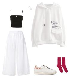 Designer Clothes, Shoes & Bags for Women Korean Girl Fashion, Korean Street Fashion, Ulzzang Fashion, Look Fashion, Kpop Fashion Outfits, Korean Outfits, Mode Outfits, Cute Casual Outfits, Retro Outfits