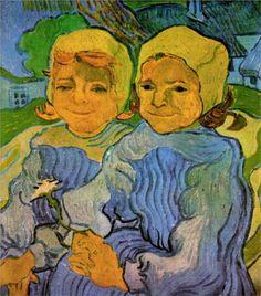 Vincent van Gogh (Dutch 1853–1890) Two Little Girls, 1890. Oil on canvas, 51.2 x 51 cm. Musée d'Orsay, Paris.