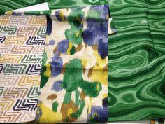 malachite fabric!! Good Bones, Great Pieces.