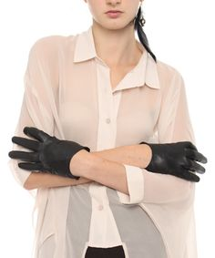 black leather 'halloway gloves' from idontlikemondays.us - one of my favorite online fashion boutiques!