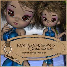 Poser Tubes Freebie | Fantasymoments: Poser Tubes Cookie-Blue