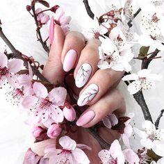 53 Awesome Cherry Blossom Nail Art Designs and Ideas - 53 Awesome Cherry Blossom Nail Art Designs and Ideas - Nail Art Designs, Gel Manicure Designs, Cherry Nail Art, Cherry Blossom Nails, Cherry Blossoms, Spring Nails, Summer Nails, Gel Nails, Nail Polish