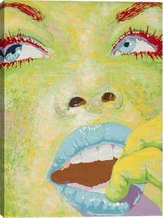 Eyes II Figurative Canvas Wall Art Print by Fatmir Gjevukaj