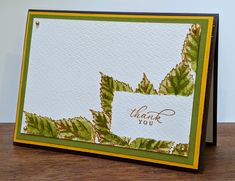 Timeless Tropical Thank you Leaf Images, Cardmaking And Papercraft, Making Cards, My Stamp, Diy Cards, Watercolor Paper, Sally, No Time For Me, Stampin Up