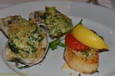 On Carnival Conquest, Cozumel, MDR Dinner- Oysters Rockefeller