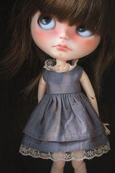 Vintage style dress for Blythe dolls от BlytheForMe на Etsy