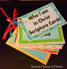 Who I am in Christ Scripture Cards - Second Chance To Dream