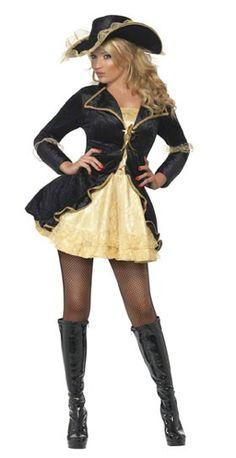 Disfraz de Pirata Champán para mujer