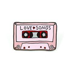 Love Songs Mixtape Pin
