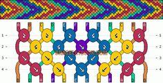 Normal Friendship Bracelet Pattern #4083 - BraceletBook.com