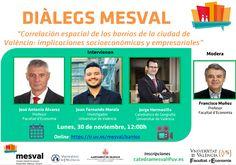 Correlació espacial dels barris de la ciutat de València: implicacions socioeconòmiques i empresarials Valencia, Professor