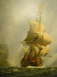 Christian Molsted, 1862-1930, The breakthrough in the battle of Koge Bay on July 1st 1677