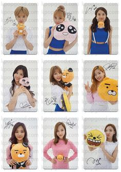 Twice Korea fanpage twice X kakao mini photocard TWICEcoaster TT kpop sana mina