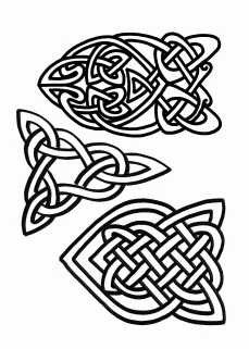 Celtic Shapes 1 Clear Stamps Polymer Clay PMC. $7.99, via Etsy.