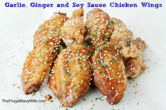 Garlic, Ginger and Soy Sauce Chicken Wings - The Frugal Navy Wife