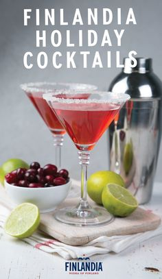 This collection of Finlandia holiday cocktail recipes is sure to earn you a spot on the nice list. Premium vodka meets fresh, seasonal flavors like cranberry, orange, cinnamon, raspberry, and Prosecco. Click here to see how you can entertain guests this Christmas season with a signature winter drink.