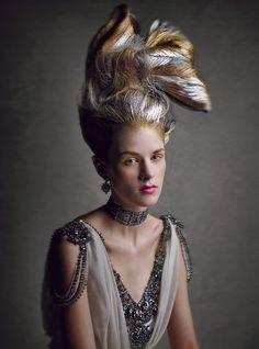 Haute Couture hair, Fotos de Patrick Demarchelier. Revista W, Mayo 2013 | Manuel Vera