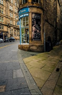 Cockburn Street in Edinburgh.                              …