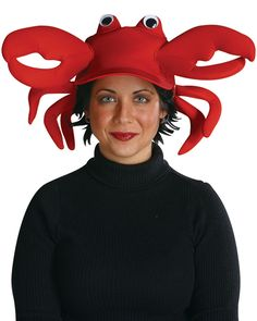 Product Description This Crab Costume Cap is a sensational way to enhance your look at the next Beach Party! nothing creepy, scary or wierd. This Crab Costume Cap just something simple but fun that you can enhance your look without spending too much money Food Halloween Costumes, Wholesale Halloween Costumes, Creative Halloween Costumes, Pet Costumes, Crab Costume, Lobster Costume, Costume Hats, Costume Ideas, Lobster Halloween