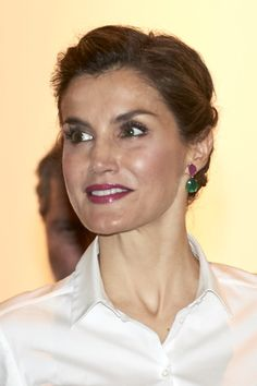 Queen Letizia of Spain attends the opening of ARCO 2016 at Ifema on February 25, 2016 in Madrid, Spain.