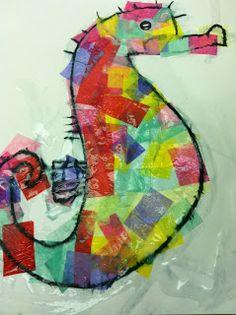 Maros kindergarten:Summer & ocean crafts with different textures part 1!  Καλοκαιρινές κατασκευές με διαφορετικές υφές μέρος 1ο! Seahorse Crafts, Ocean Crafts, Fish Crafts, Ocean Activities, Craft Activities For Kids, Book Activities, Ocean Projects, Art Projects, School Projects