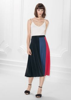 & Other Stories image 1 of Cupro Skirt in Black