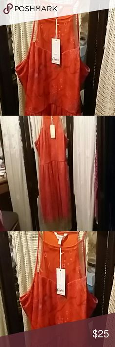 Dress  with tags Orange with floral  print Candie's Dresses Mini