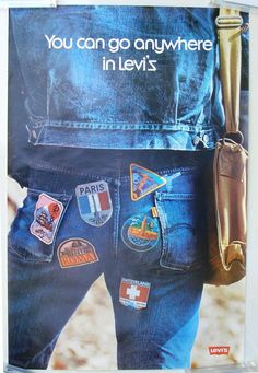 Retro Ads, Vintage Advertisements, Business Poster, Faded Jeans, Lee Jeans, Advertising Poster, Vintage Jeans, Denim Shirt, Classic Fashion