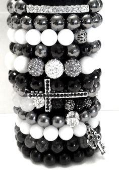 Black Magic Ultimate Beaded Bracelets Collection of 12 Stretch Beaded Bracelets. $175.95, via Etsy.