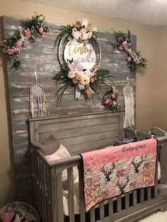 Quilt, baby room, nursery, rustic, barn wood, baby, baby girl