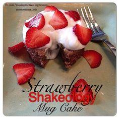 Strawberry Shakeology Mug Cake! Strawberry Shakeology Mug Cake! Strawberry Shakeology Mug Cake! Strawberry Shakeology Mug Cake! Chocolate Chip Cake, Chocolate Recipes, Shakeo Mug Cake, Shakeology Mug Cake, Chocolate Shakeology, Strawberry Shakeology Recipes, Star Cakes, Cupcakes, Cupcake