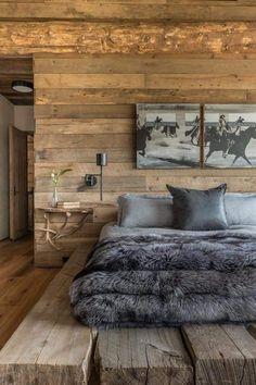 Unique Modern Bedroom Design Ideas for Your Inspiration - Architektur und wohnen - Bedding Master Bedroom Contemporary Bedroom Furniture, Modern Bedroom Design, Home Interior Design, Bedroom Designs, Chalet Interior, Contemporary Interior, Interior Ideas, Modern Design, Lodge Bedroom