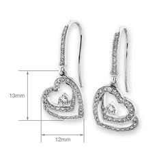 Loving Heart earrings in 18k white gold with diamonds.    #FinestDiamonds    www.finestdiamonds.com.au