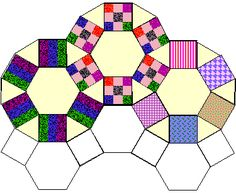 """How to make """"Jack's Chain"""". Templates for hexagons n triangles"""