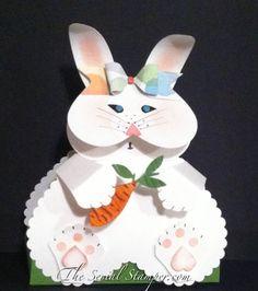 My Bunny framelit/punch art. It's so stinkin cute! Spring Crafts