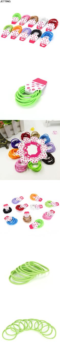 10pcs/lot Girl Women Rubber Bands Tie Gum For Hair accesorios Hair Accessories Elastic Holders Rope para el pelo