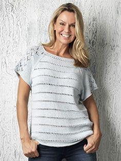 Familie Journal - strikkeopskrifter til hende Summer Knitting, Summer Tops, Knitwear, Knit Crochet, Diy And Crafts, Bomuld, Pattern, Inspiration, Dresses
