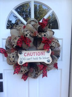 Dog wreath...wish I had bought more signs.