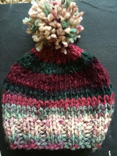 Hand knit childs baby hat by ONeilCreations on Etsy #madewithlove