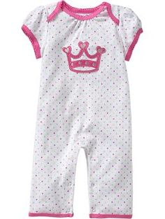 Ruffle-Back Princess One-Pieces for Baby (Hope to get this to match her shoes)