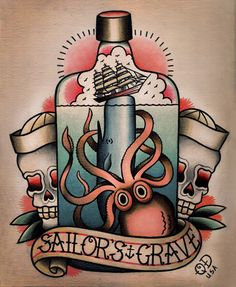american traditional octopus tattoo - Google Search