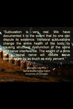 Subluxation is real... Connective tissue disorders.  #EhlersDanlosSyndrome Awareness #EDS. To learn more about Chung-Ha Suh, PhD   Jump to source.    And more here:  http://www.chiroeco.com/chiropractic/news/10731/1471/neurologically-based-chiropractic/