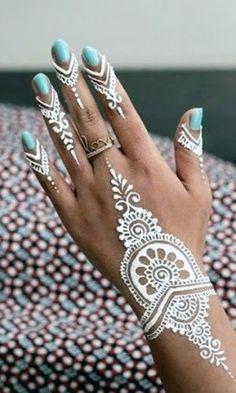 25 Amazing White Henna Designs