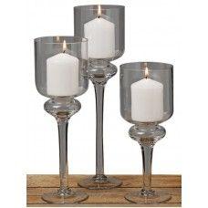 Pahare lumânări Ina set 3 buc H25-35