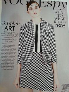 Vogue Head To Toe, Skirt Suit, Monochrome, Vogue, Stripes, Michael Kors, Blazer, Suits, How To Wear